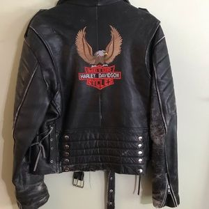 Vintage Harley division leather jacket